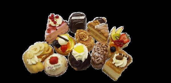 Afbeelding van Gemengd gebak per stuk